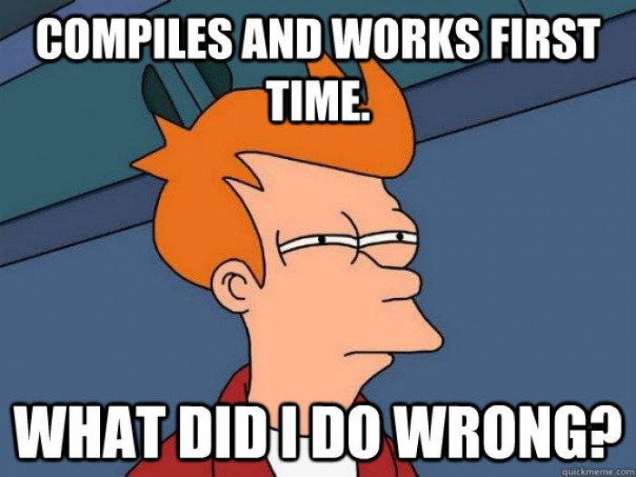 compiles and works the first time