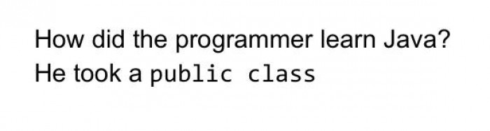 How did the programmer learn Java?