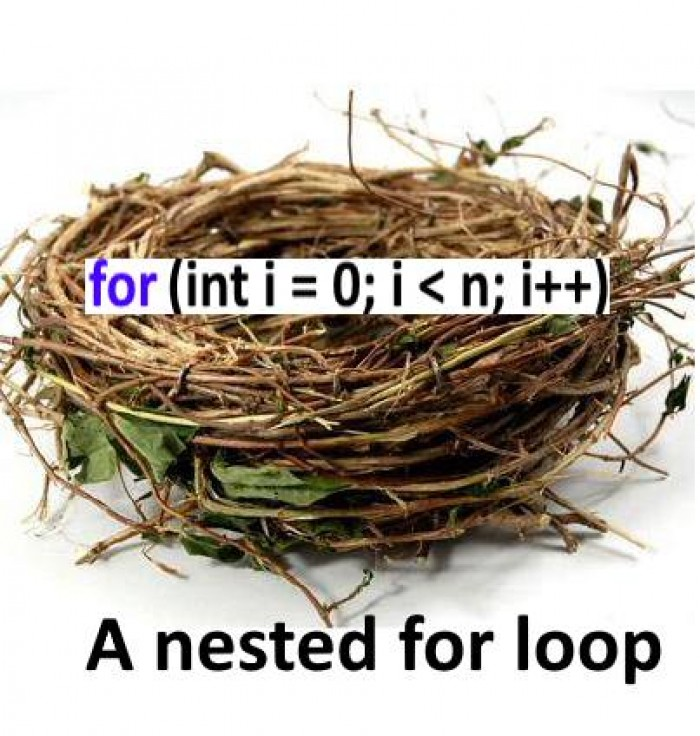 A nested for loop