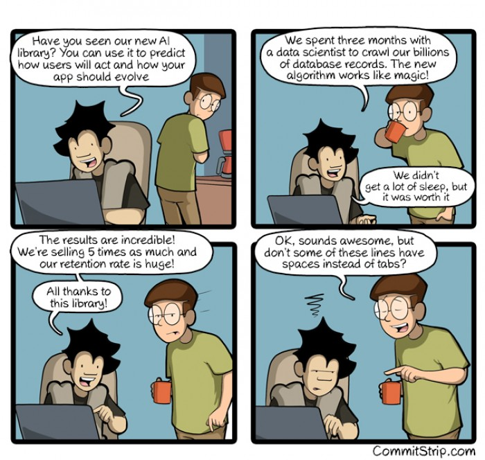[commitstrip] first things first
