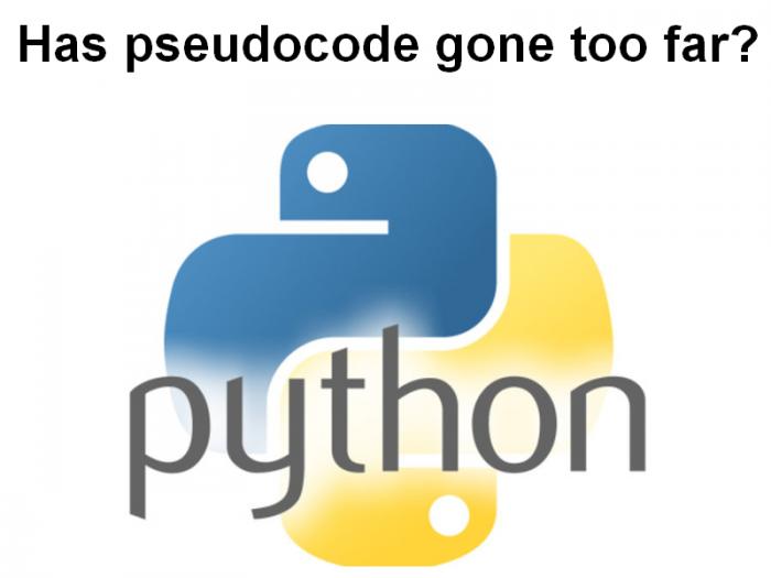Has pseudocode gone too far?