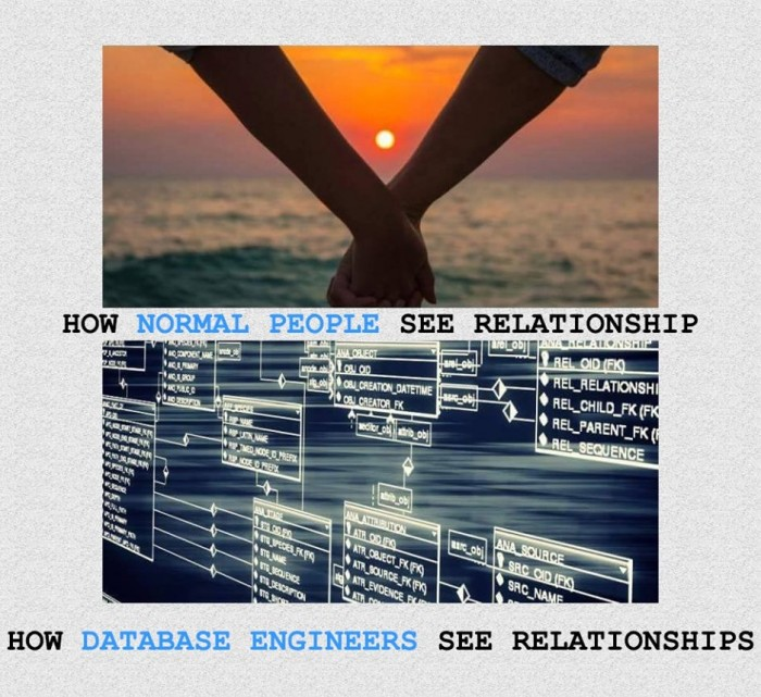 How database engineers see relationships