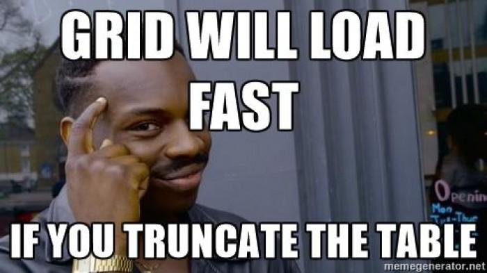 Optimize slow grid