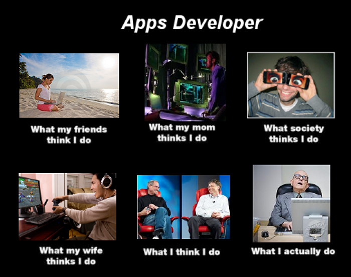 Apps Developer Meme What I Actually Do