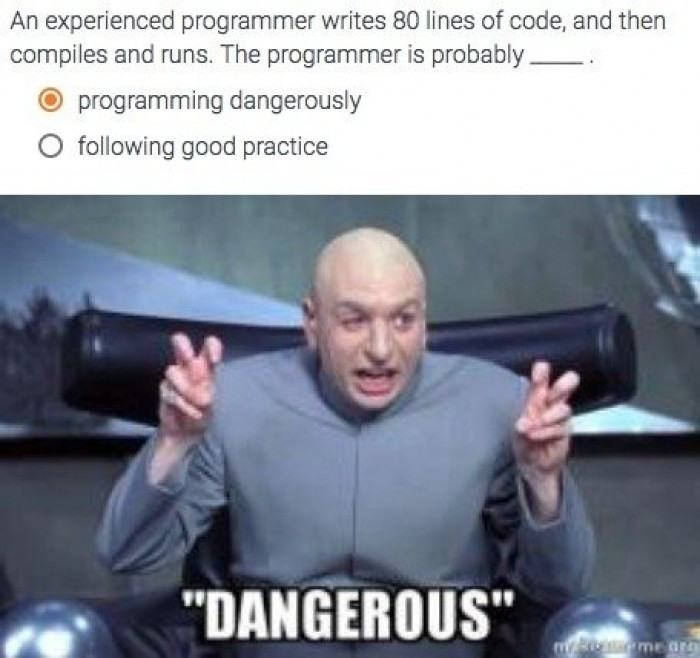 """Programming Dangerously"""