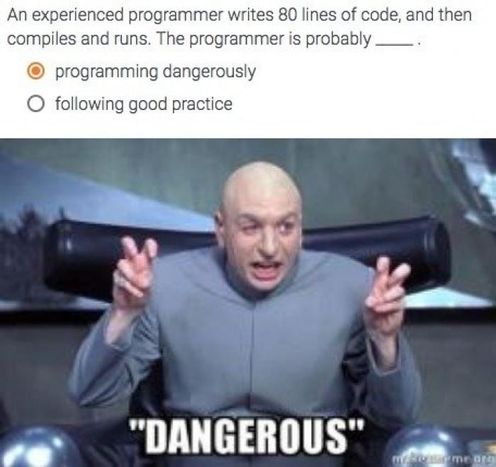 """Programming Dangerously"""