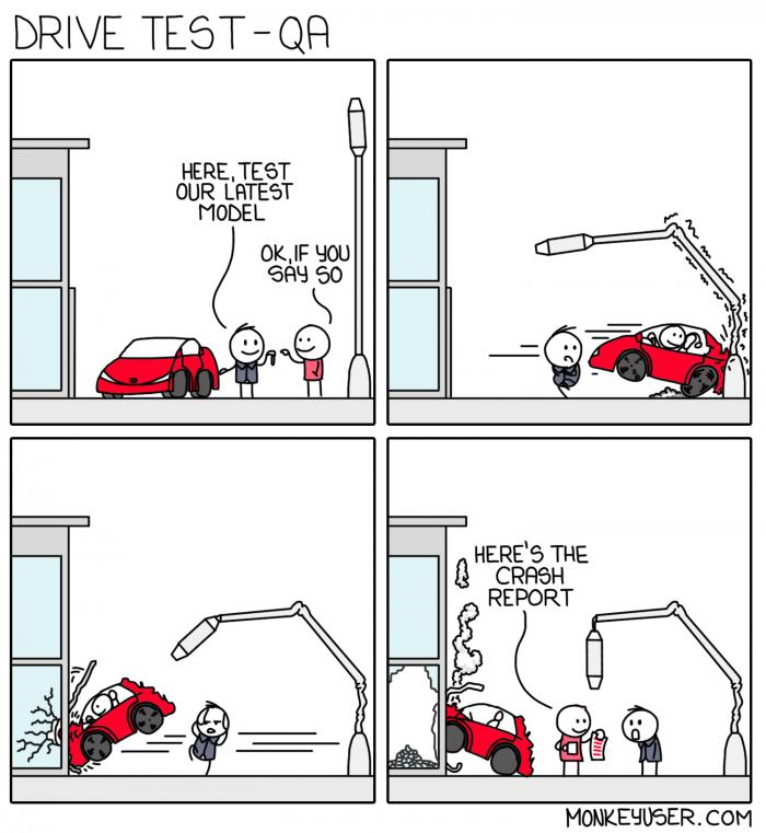 [monkeyuser] Test drive development