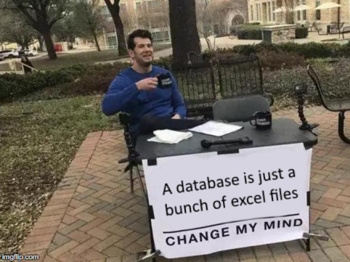 Excel === Database