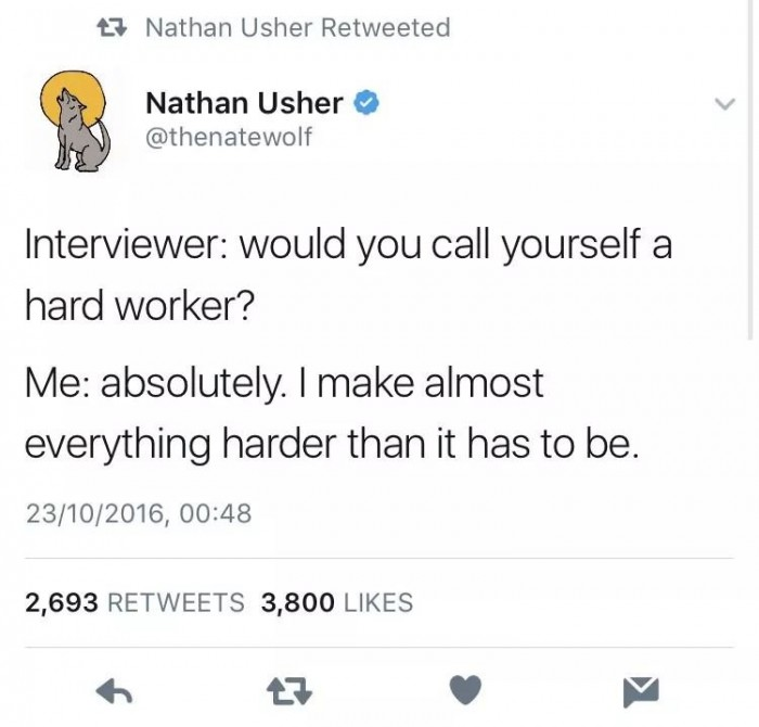 would you call yourself a hard worker?