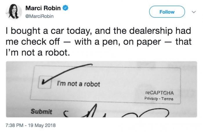 I'm not a robot.