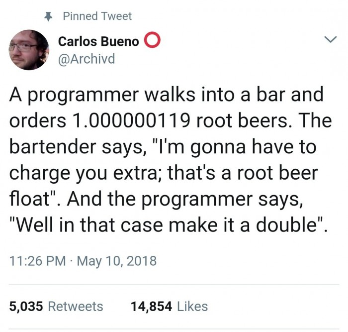 A programmer walks into a bar