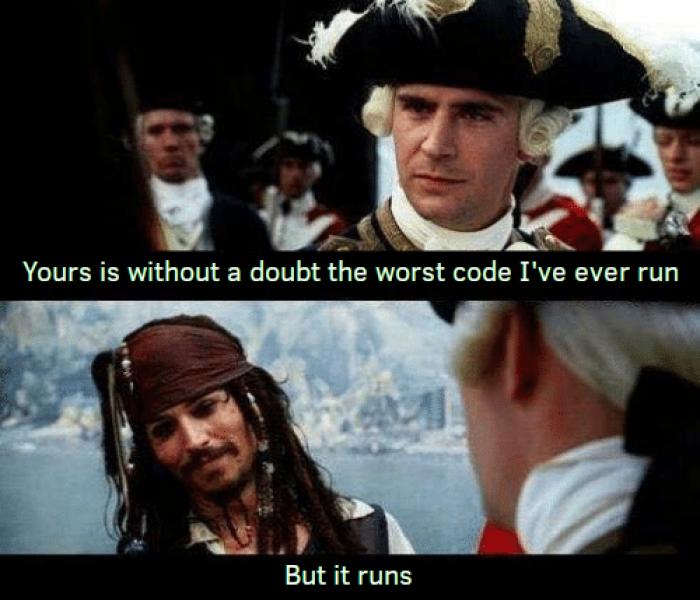 It just... runs