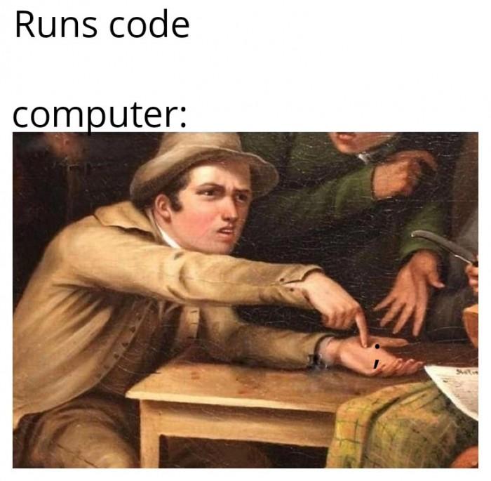 Runs code: