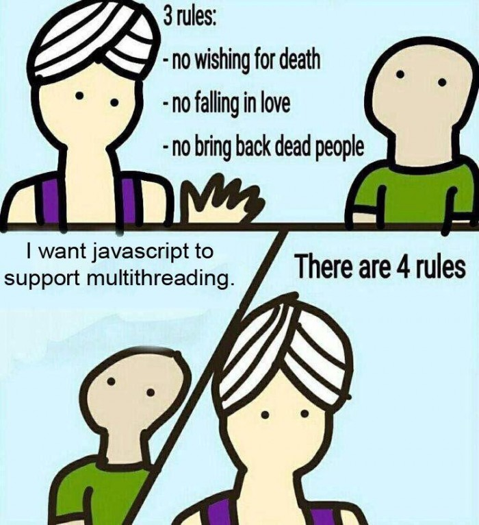 I want javascript to support multithreading