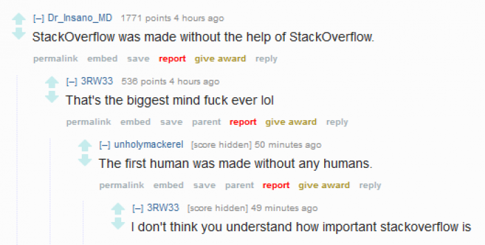 StackOverflow was made without the help of StackOverFlow