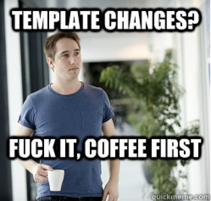 Busy Web Developer: Template Changes