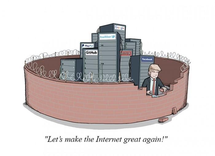 "Pretty sure those walls already exist. We call them ""firewalls""."