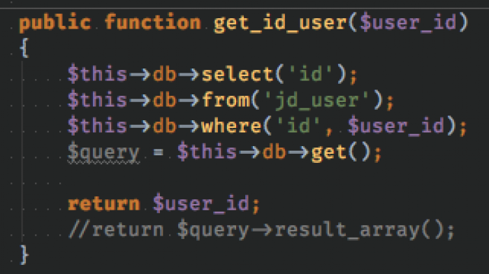 That's how you get user_id