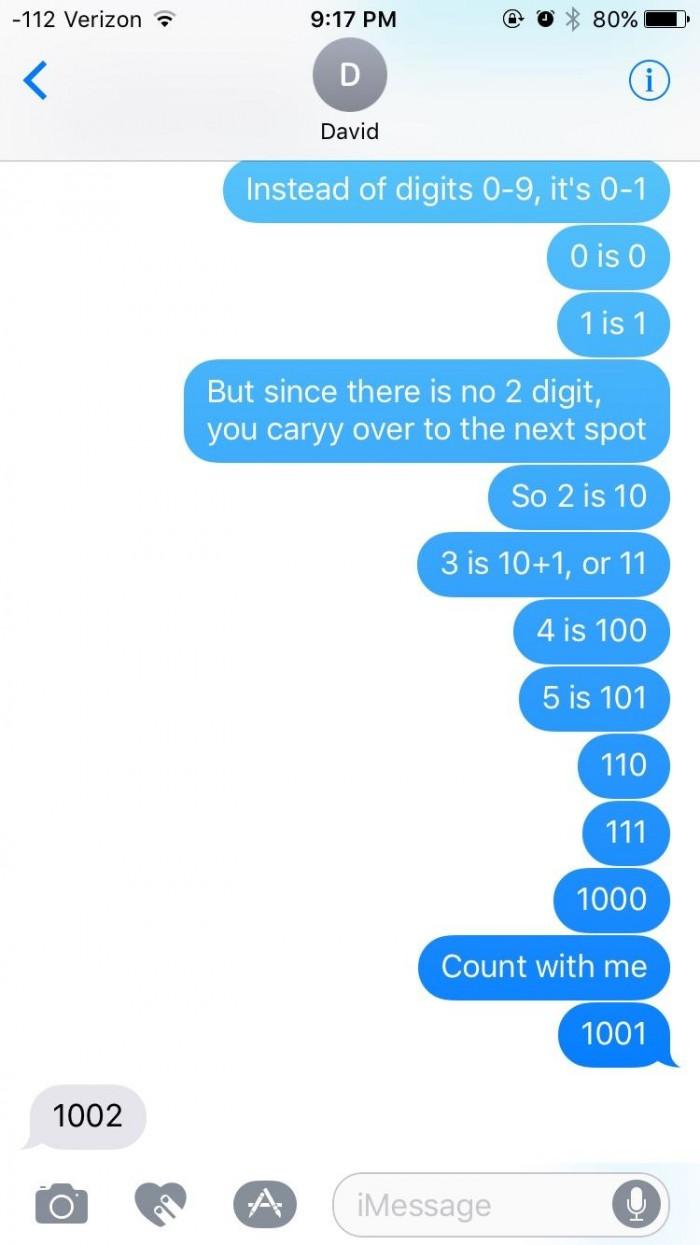 Teaching my brother binary