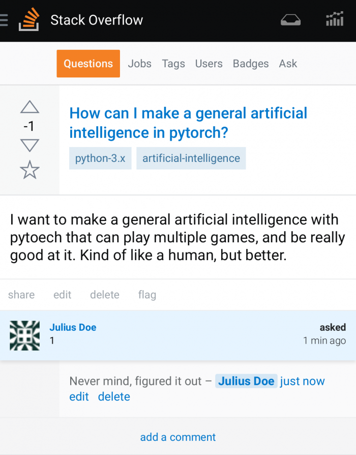 How to make general artificial intelligence in pytorch?
