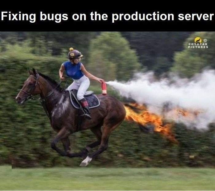 Fixing bugs on the production server