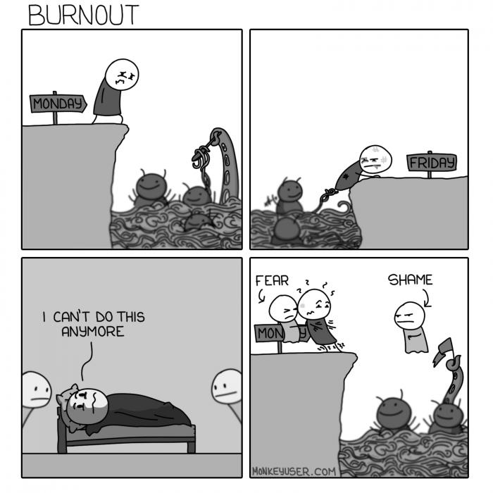 [monkeyuser] Burnout