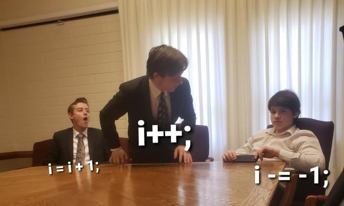 i +=-( i - (i + 1));