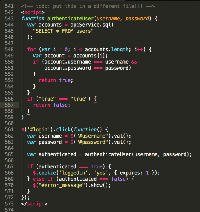 This JavaScript code powers a 1,500 user intranet application