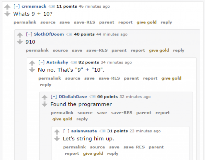 Random programmer humor in comments are always a joy.