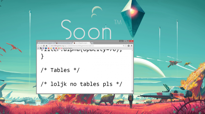 Looking through Hello Games' HTML and CSS when I saw this. Made me laugh.