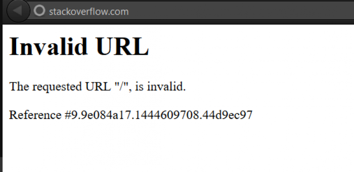 Somebody at StackOverflow messed up... How are they going to fix it?