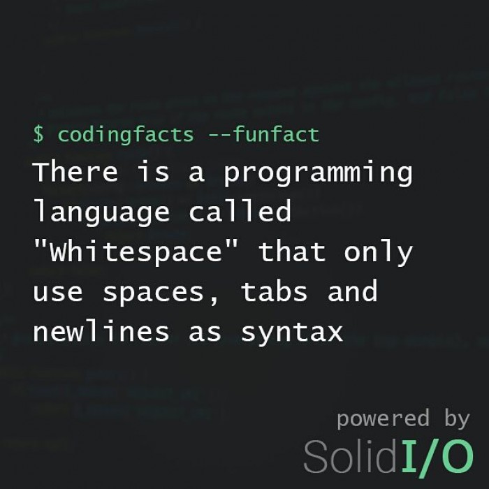 """Does anyone know """"whitespace""""?"""