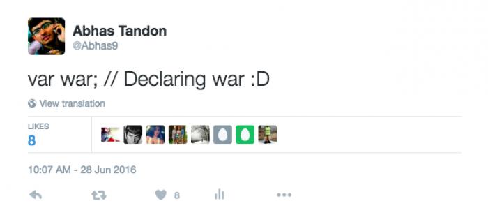 Declaring war using code [JavaScript]