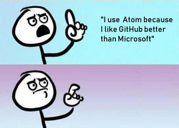 I actually said this when someone asked me why I use Atom over VSCode
