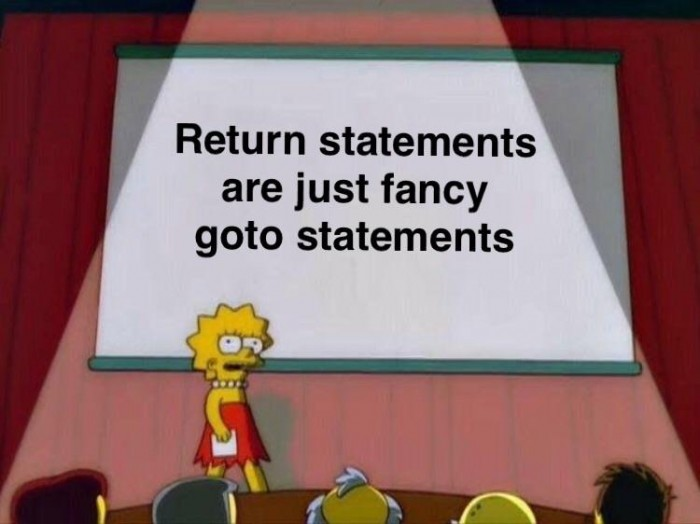 Truth about return statements