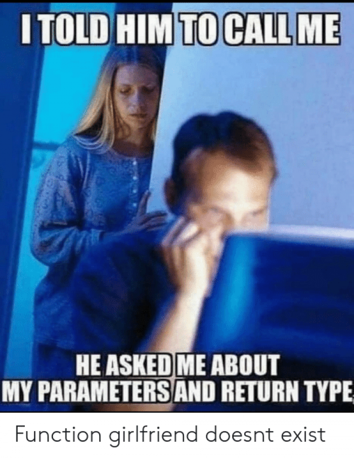 Parameters and return type