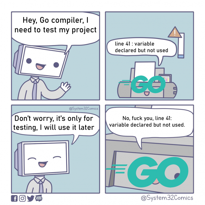 The first time I coded in Go