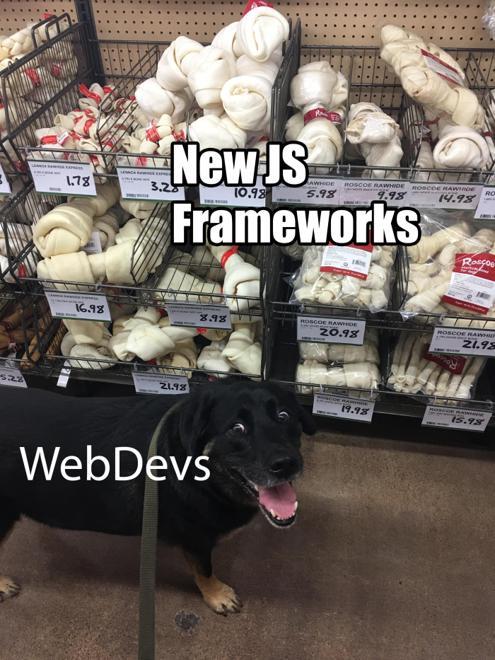 The problems of a web developer.