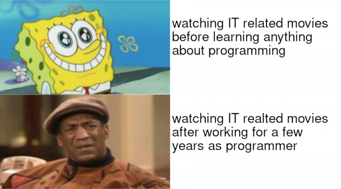 Watching IT related movies