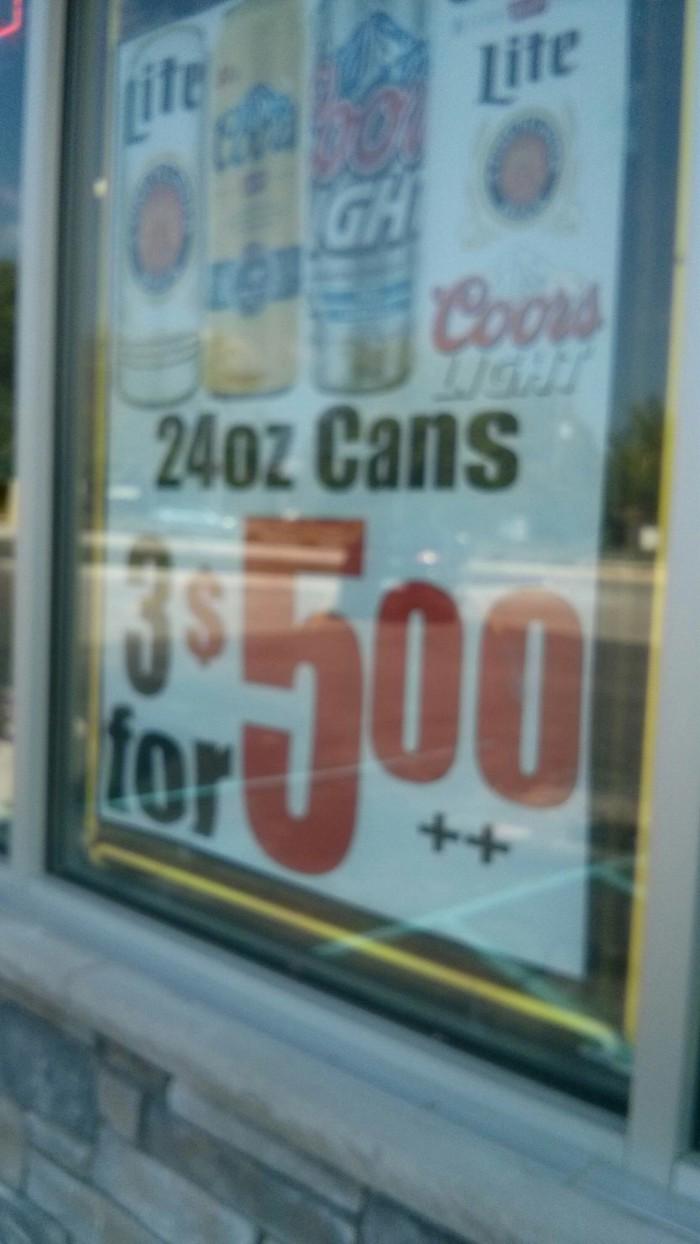 So, $6?