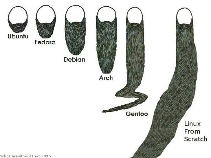 Evolution of Linux neckbeards