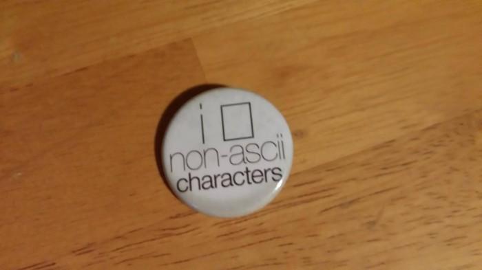 I [] non-ascii characters