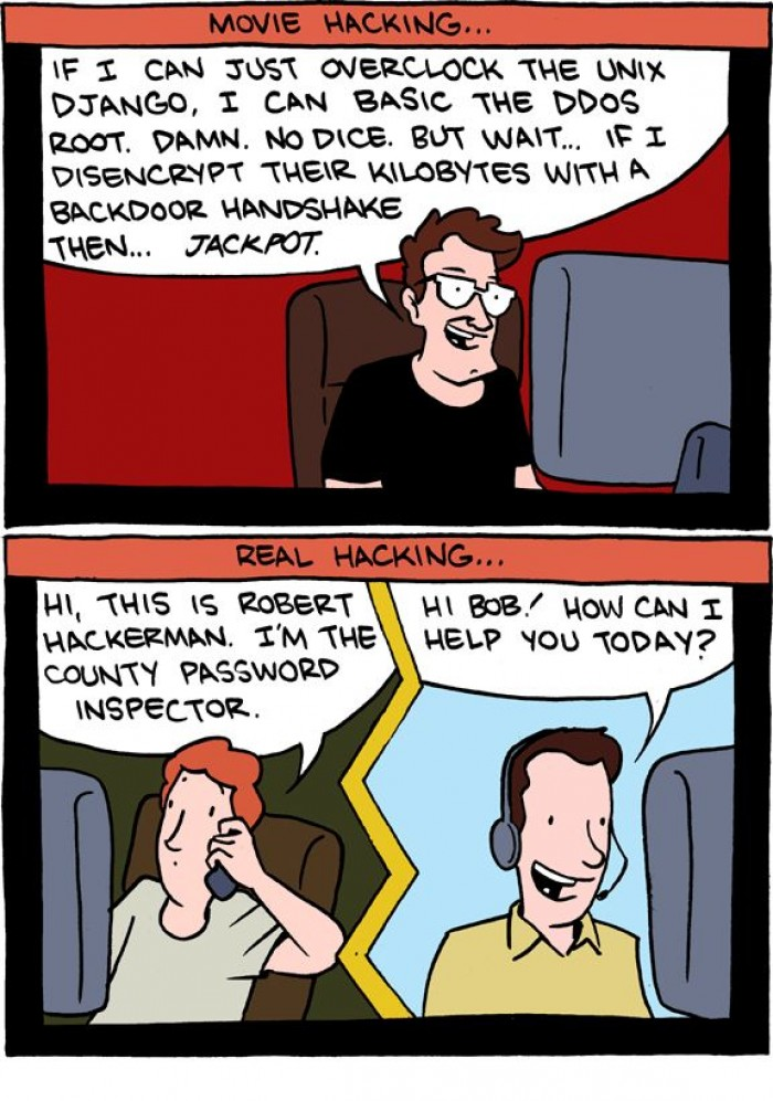 [smbc-comics] How hacking works