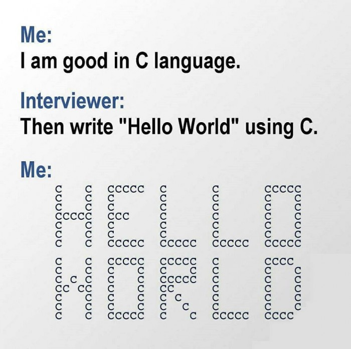 Hello World using C