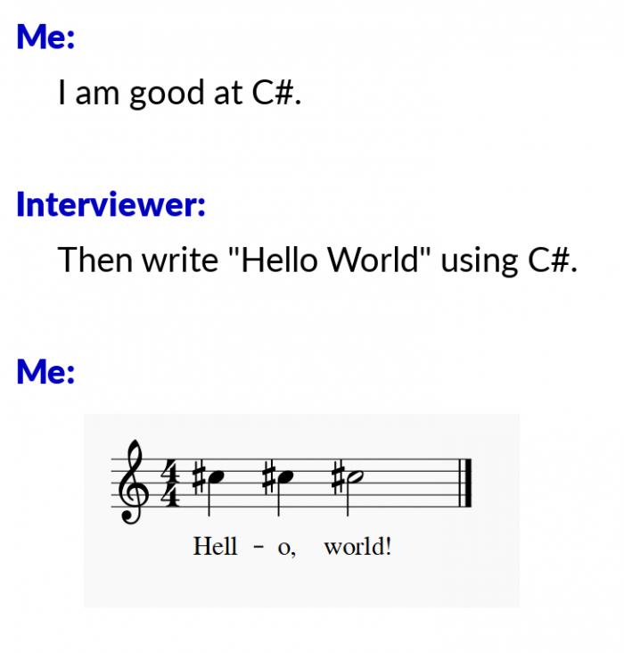 Hello World using C#
