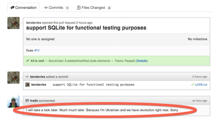 Cant SQL now because Revolution