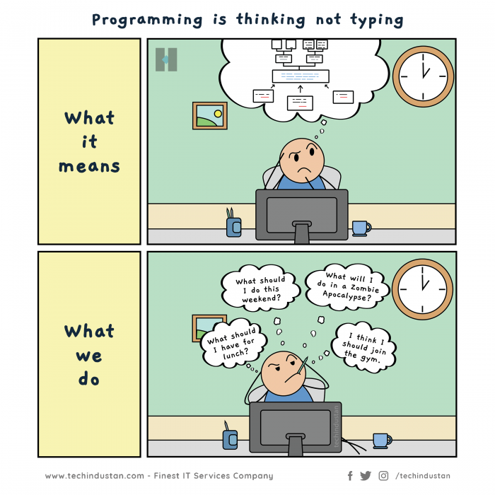 Programming is thinking not typing!