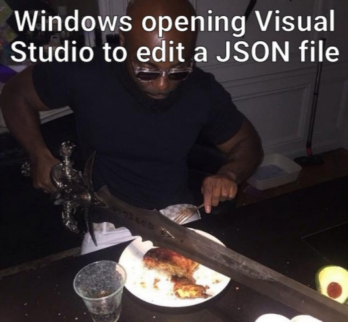 using visual studio to open a json file